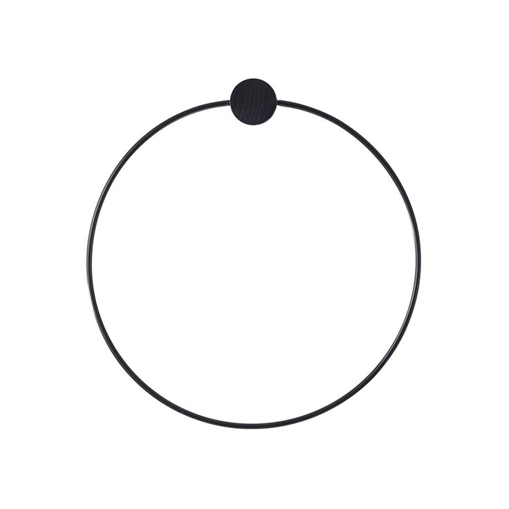 Add timeless design to your bathroom with this stunning Black Towel hanger from Ferm Living. Made from powder coated metal in a gorgeous black colour and finished with a black stained oak attachment,