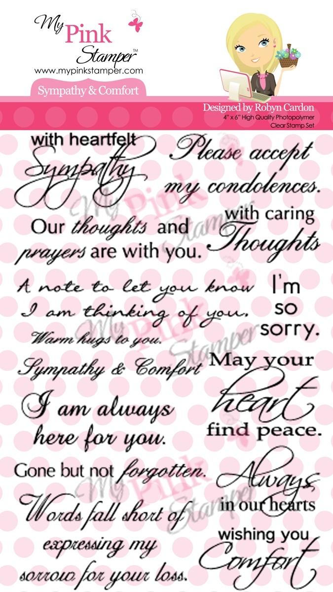 My Pink Stamper Sympathy & Comfort Stamp Set