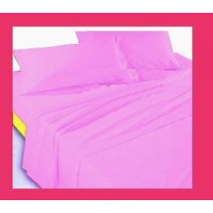 Completo LENZUOLA letto MATRIMONIALE tinta unita federe lilla cotone made italy - SATURNOStore