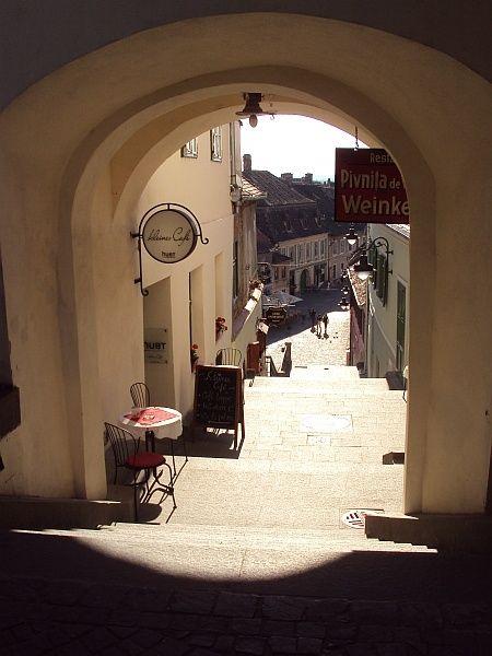 Streets of Sibiu  http://tripsandtipsinromania.com/discover-transylvania/