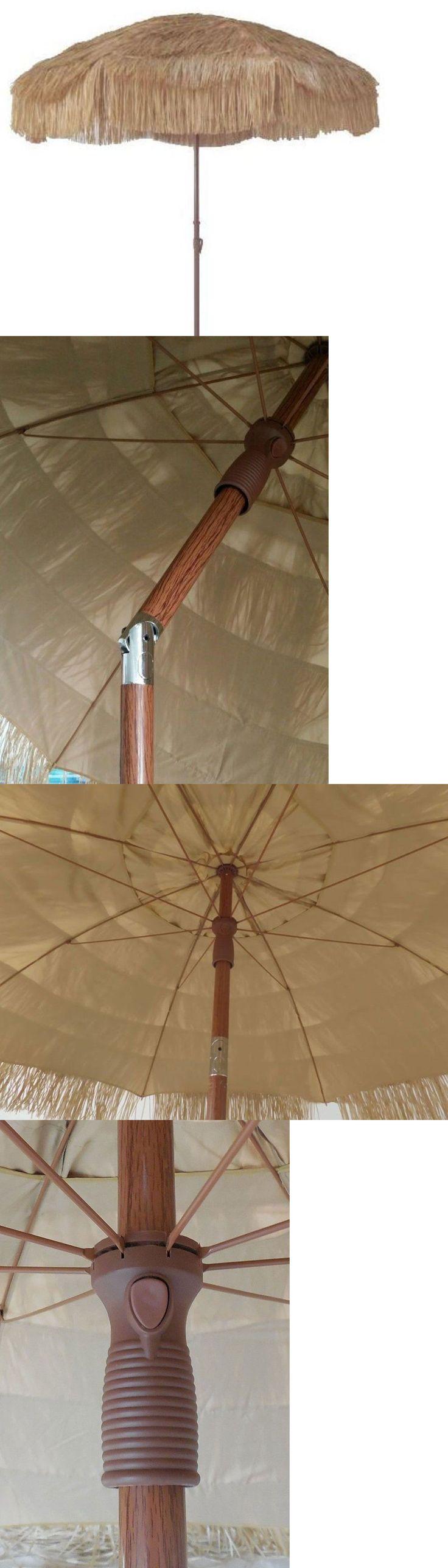 Umbrellas 180998: 8 Hula Beach Patio Umbrella Hawaiin Thatched Tiki Umbrella Impact Canopy -> BUY IT NOW ONLY: $52.99 on eBay!