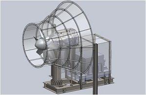 風力タービン発電機の2次元組図