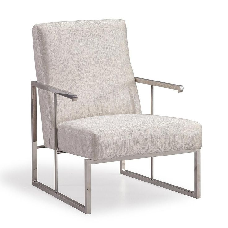 TOV Furniture Modern Liv Metallic Grey Chair TOV-S6105