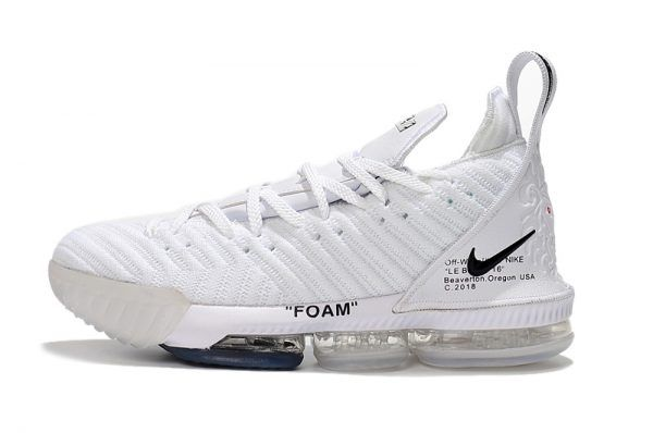 1664ed15aa1051 2018 Off-White x Nike LeBron 16 White Black Men s Shoes Size 7-12