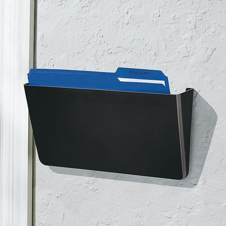 Office Depot® Brand Single Wall Pocket, Letter Size, Black