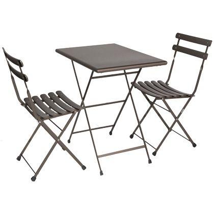 das tolle set aus zwei st hlen und einem tisch ist perfekt f r wunderbare stunden auf der. Black Bedroom Furniture Sets. Home Design Ideas