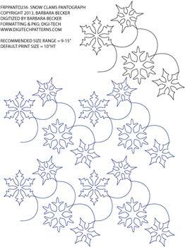 Snow Clams Pantograph by Barbara Becker FRPPANTO238