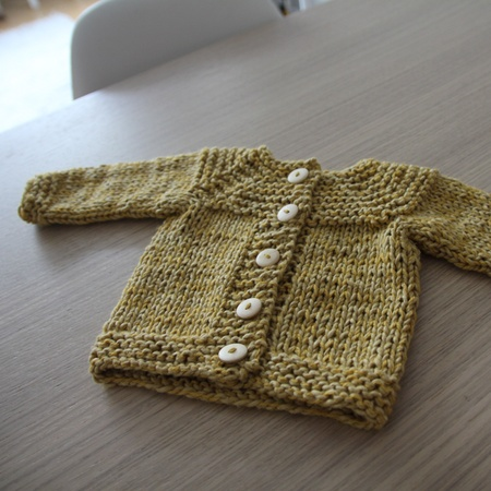 Plain cardigan #pickles #0-3 month pattern for free