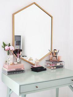 Hexagon mirror. Kmart Australia styling inspo