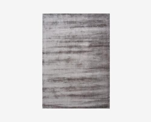 Plush soft luxury grey minimalist rug