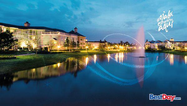 """Disney's Saratoga Springs Resort and Spa ofrece entretenimiento y diversión para toda la familia. Cuenta con varias villas y extensas áreas verdes y se localiza a la orilla del lago """"Village Lake"""". Los niños podrán entretenerse en el área de juegos, mientras los padres se ejercitan en el gimnasio o se relajan con algún tratamiento revitalizante. Este lujoso hotel está lleno de amenidades y servicios que te harán disfrutar unas inolvidables vacaciones en Walt Disney World® Resort ."""