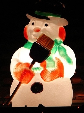 Plastic Light Up Snowman They Were Cool In The Past But Now Look Tacky Lol