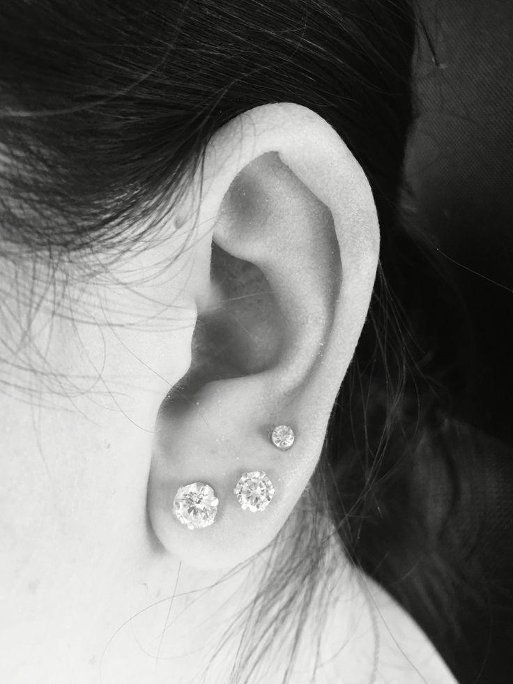 Triple Piercing Earrings Best Triple Helix Ear Piercing