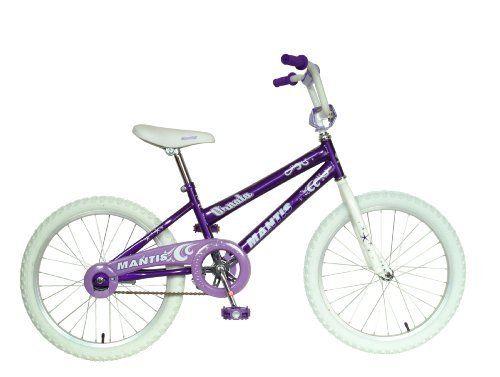 Mantis Ornata Kid's Bike, 20 inch Wheels, 12 inch Frame, Girl's Bike, Purple by Mantis. Mantis Ornata Kid's Bike, 20 inch Wheels, 12 inch Frame, Girl's Bike, Purple. 20-Inch.