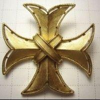"""TRIFARI  Винтажная брошь-кулон  """"Мальтийский крест"""""""