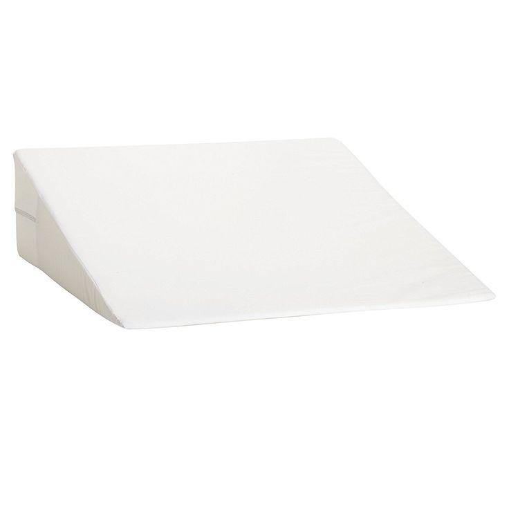 dmi foam bed wedge pillow acid reflux pillow leg elevation pillow white 7x24x24
