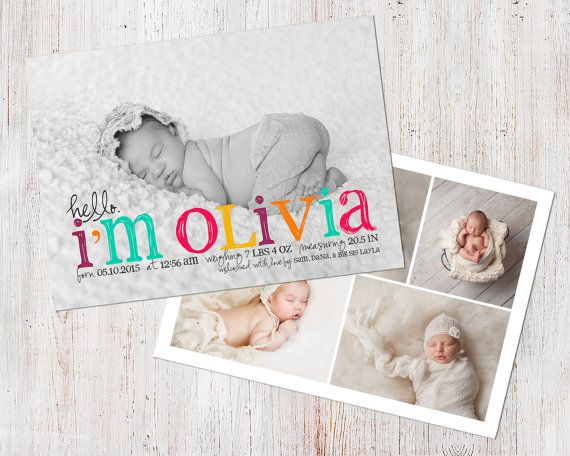Birth Announcement Template Birth Announcement Girl by deanworks