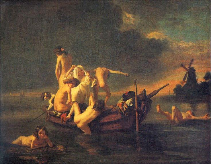 Nicolaes Maes - Badende jongens