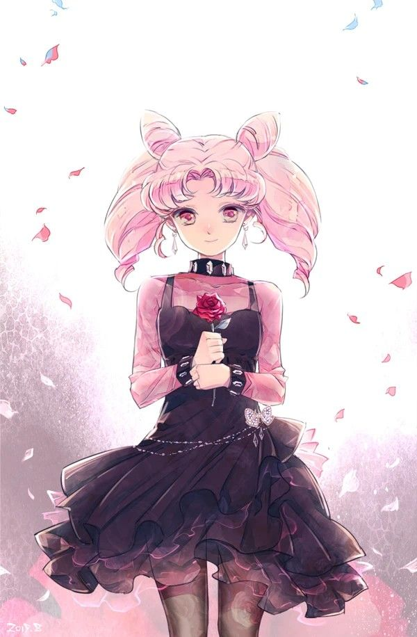 Sailor Moon Chibiusa Sailor Chibi Moon Lolita Darkness Queen Black Lady Cosplay