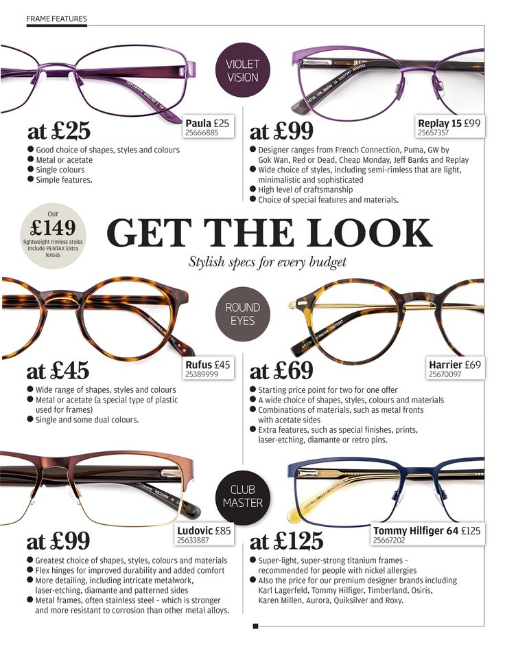 Stylish specs for every budget.