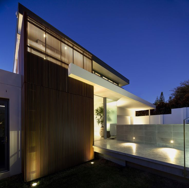 G House Night Shot - Bruce Stafford Architects