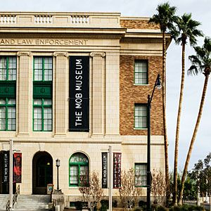 The Mob Museum -- downtown Las Vegas.  Great diversion from the gaming, eating and drinking with tons of fascinating memorabilia.  Allow yourself at least 2-3 hours to go through the entire thing. #lasvegas