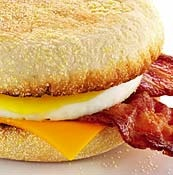 McDonalds Bacon and Egg McMuffin. Love these things with their hashbrowns!