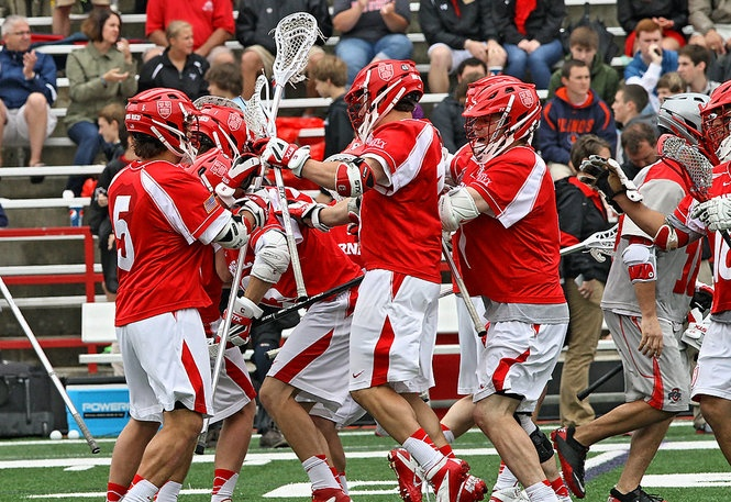 Big Red Lacrosse aka 'Cornell' led by Teewarton Award Finalist Rob Pannell won their matchup vs Ohio State lacrosse | Cornell and Ohio State Quarterfinal NCAA Lacrosse Game | syracuse.com