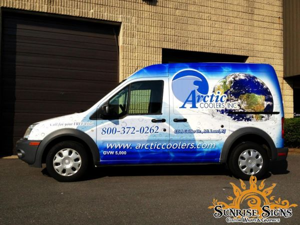 Arctic Coolers Brands with Ford Transit Connect Fleet Vehicle Wraps in NJ!