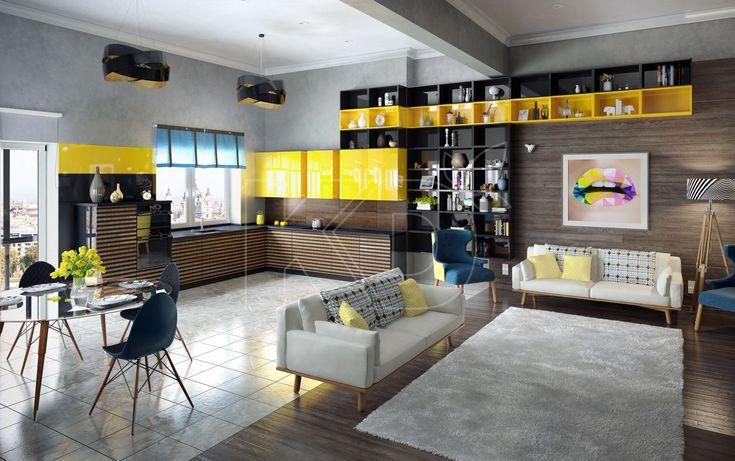 Кухня Бергер - купить кухню в стиле модерн, цена, фото в каталоге «Кухонный Двор»