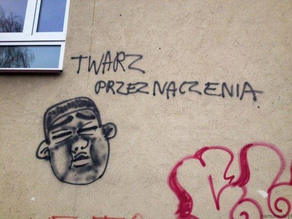 Twarz przeznaczenia - graffiti Wrocław #twarz #graffiti #Wrocław