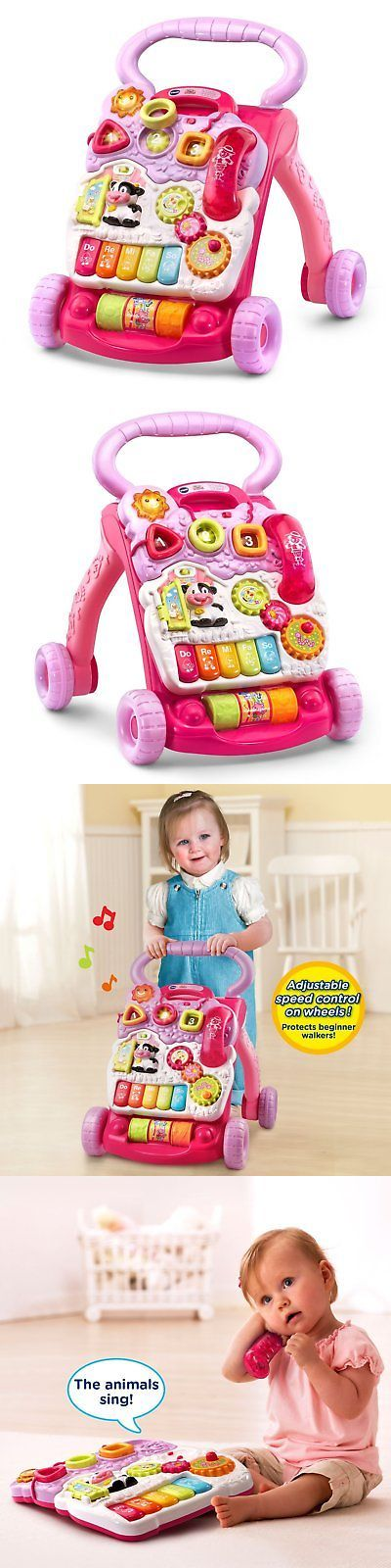 baby and kid stuff: Baby Toddler Infant Learn To Walk Push Toy Begining Walking Practice Play Girl -> BUY IT NOW ONLY: $37.17 on eBay!
