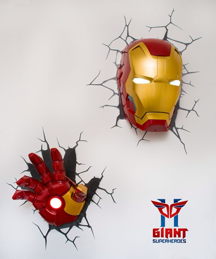 Super cool Avengers 3D Wall Deco Night Lights for sale! 3D Wall Night Lights Pinterest 3d ...