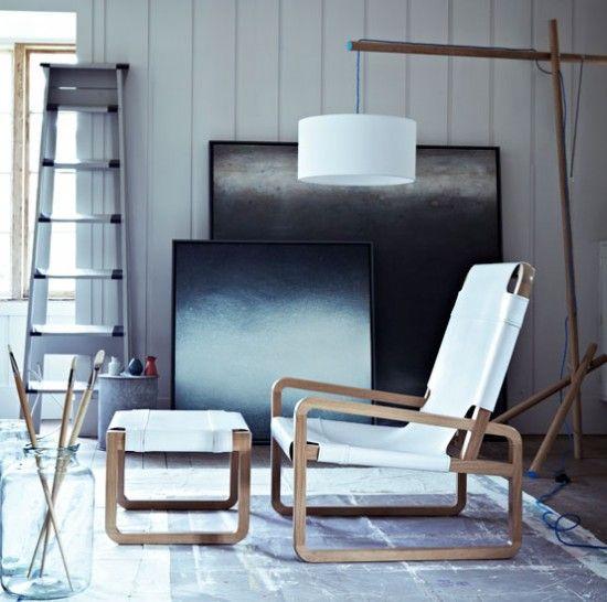Künstlerische minimale Wohnzimmer Wohnideen Living Ideas Interiors Decoration