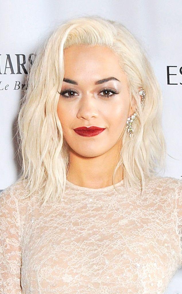 Rita Ora Platinum Blond Hair