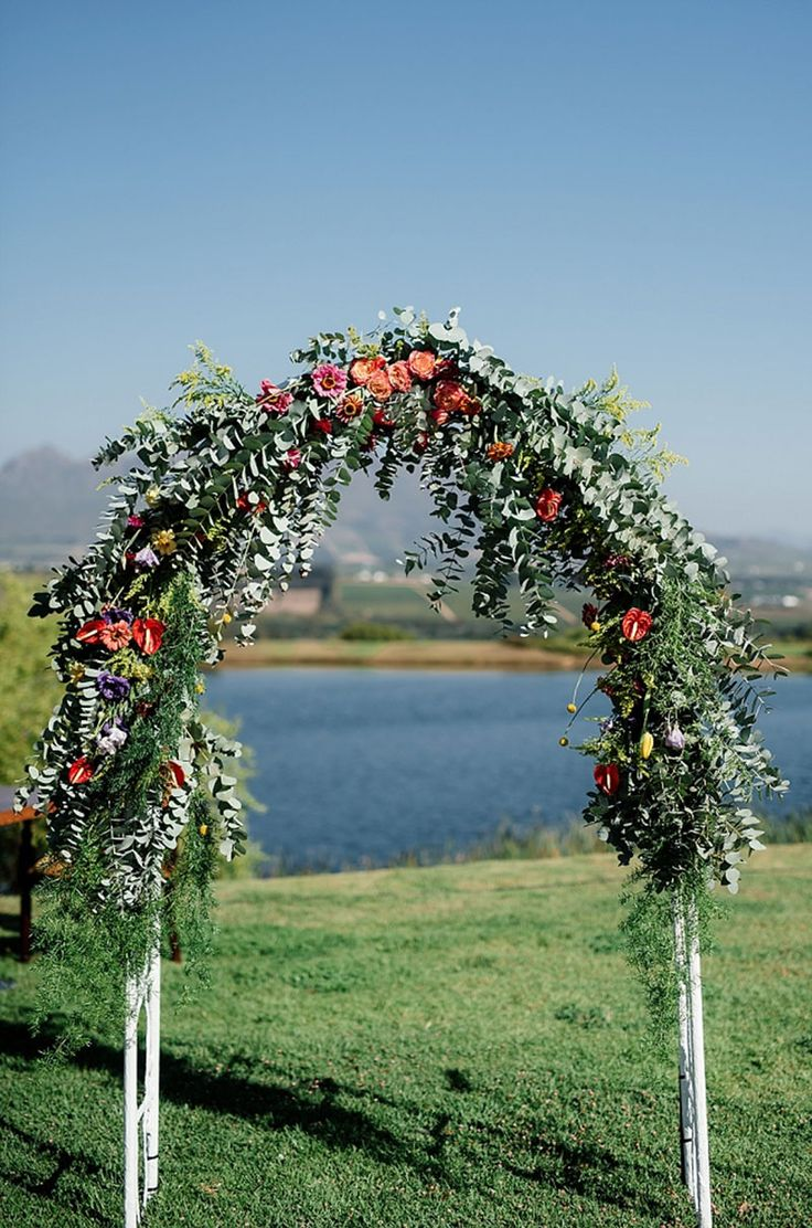 Floral Arch, bright flowers