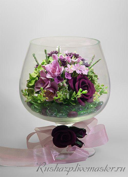 цветы ручной работы из полимерной глины, работы из полимерной глины фото, искусственные цветы из глины, полимерная глина, полимерная глина изделия фото