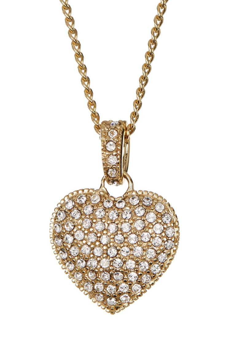 Accessorize your Valentine's Day look with this stunning reversible pave heart necklace.