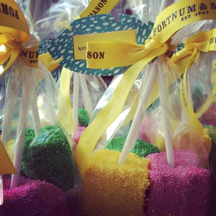 In the world of retail it's Easter already! Marshmallow Pops for Fortnum & Mason....