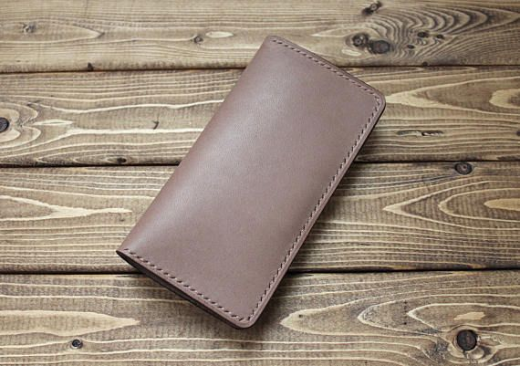 CREAM BROWN Baseball Glove Leather Wallets for ANDROID Smart Phones (Free Personalization)