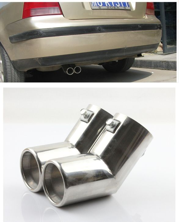 For VW MK4 Golf Jetta Bora 1999 2000 2001 2002 2003 2004 Stainless Steel Chome Exhaust Muffler Tip End Pipe Free Drop Shipping