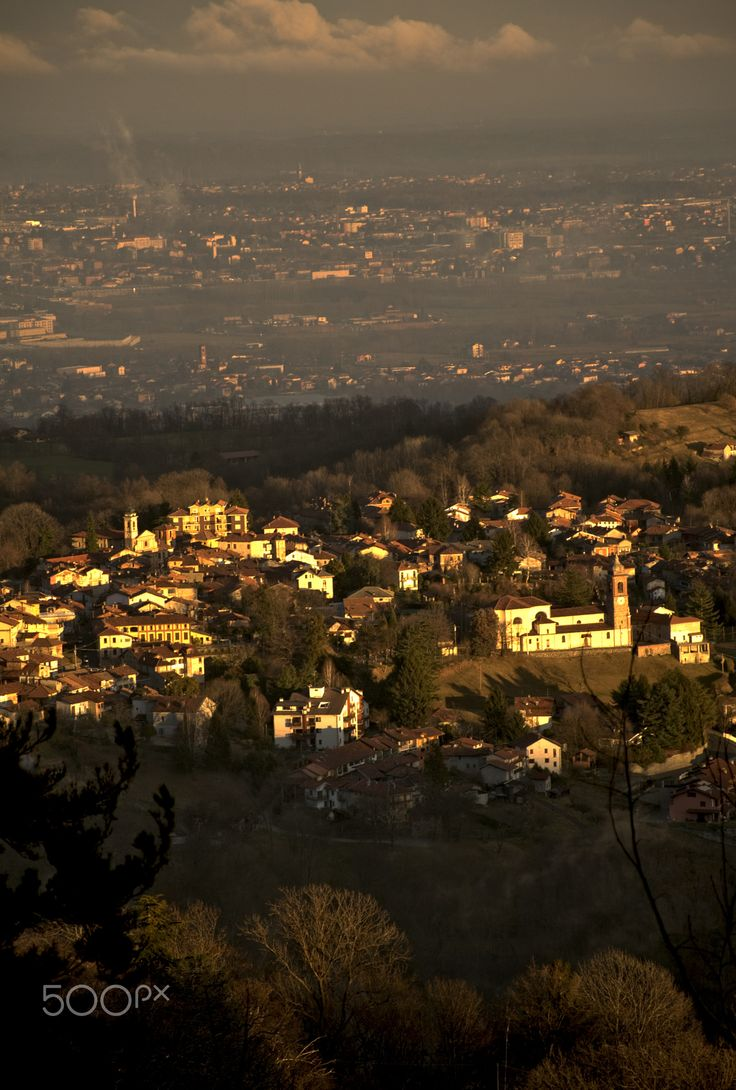 graglia - Graglia, a pretty town of Biella taken at sunset