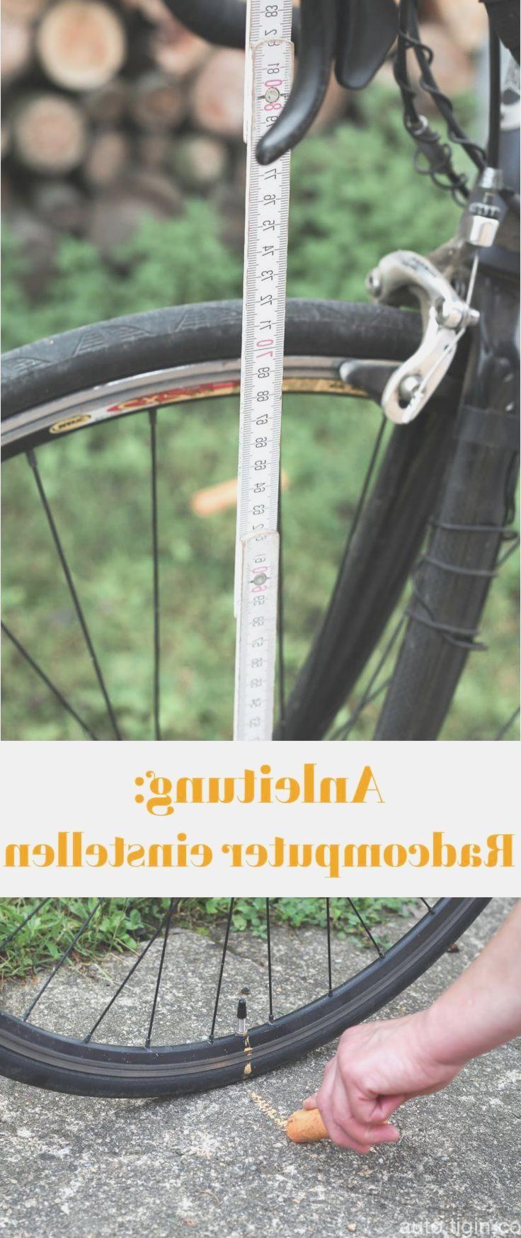 Radumfang herausfinden um den Fahrradcomputer einzustellen. [Anleitung]  –  #anl…