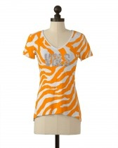 The University of Tennessee Animal Striped Tee in Tennessee Orange