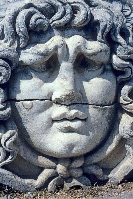 At Didyma, Medusa's scowling face is but a highlight of the great temple to Apollo. Miletus, Turkey