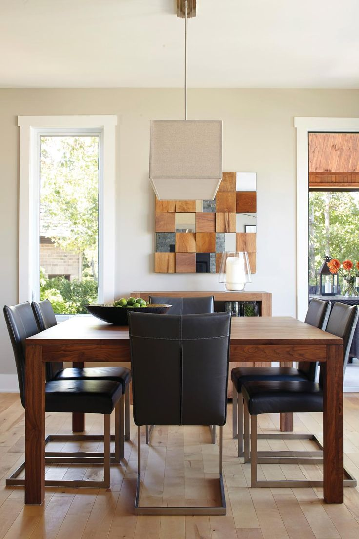 162 best salle a manger images on pinterest dining room for Meuble salle À manger avec chaise salle a manger cuir noir