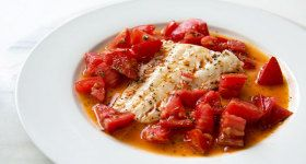 Cod Sautéed in Olive Oil with Fresh Tomatoes