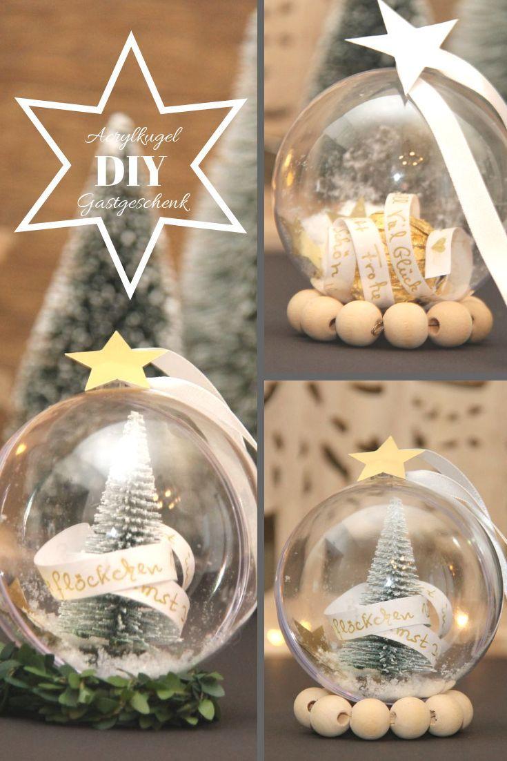 Weihnachtstafel Festlich Part - 19: Kleine Gastgeschenke, kleine give aways aus Acrylkugeln schnell selbst  gemacht für die Weihnachtsdekoration und die festlich u2026
