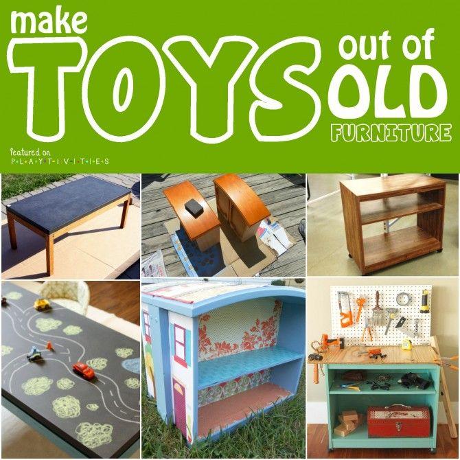 Repurposing Old Furniture. Kid friendly ideas