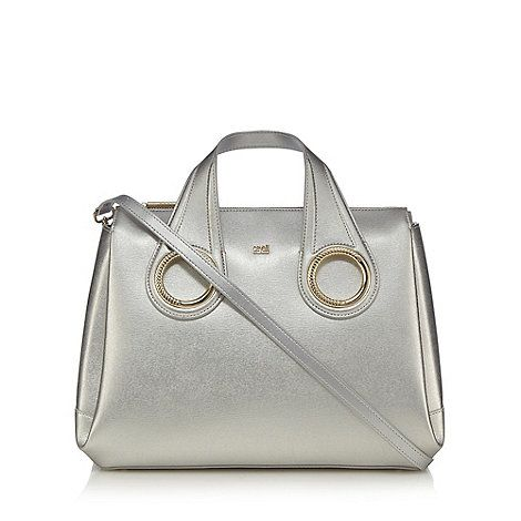 Cavalli Class Silver metallic tote bag | Debenhams